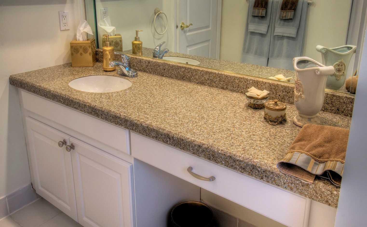 искусственный камень акриловый камень столешница в ванну с мойкой
